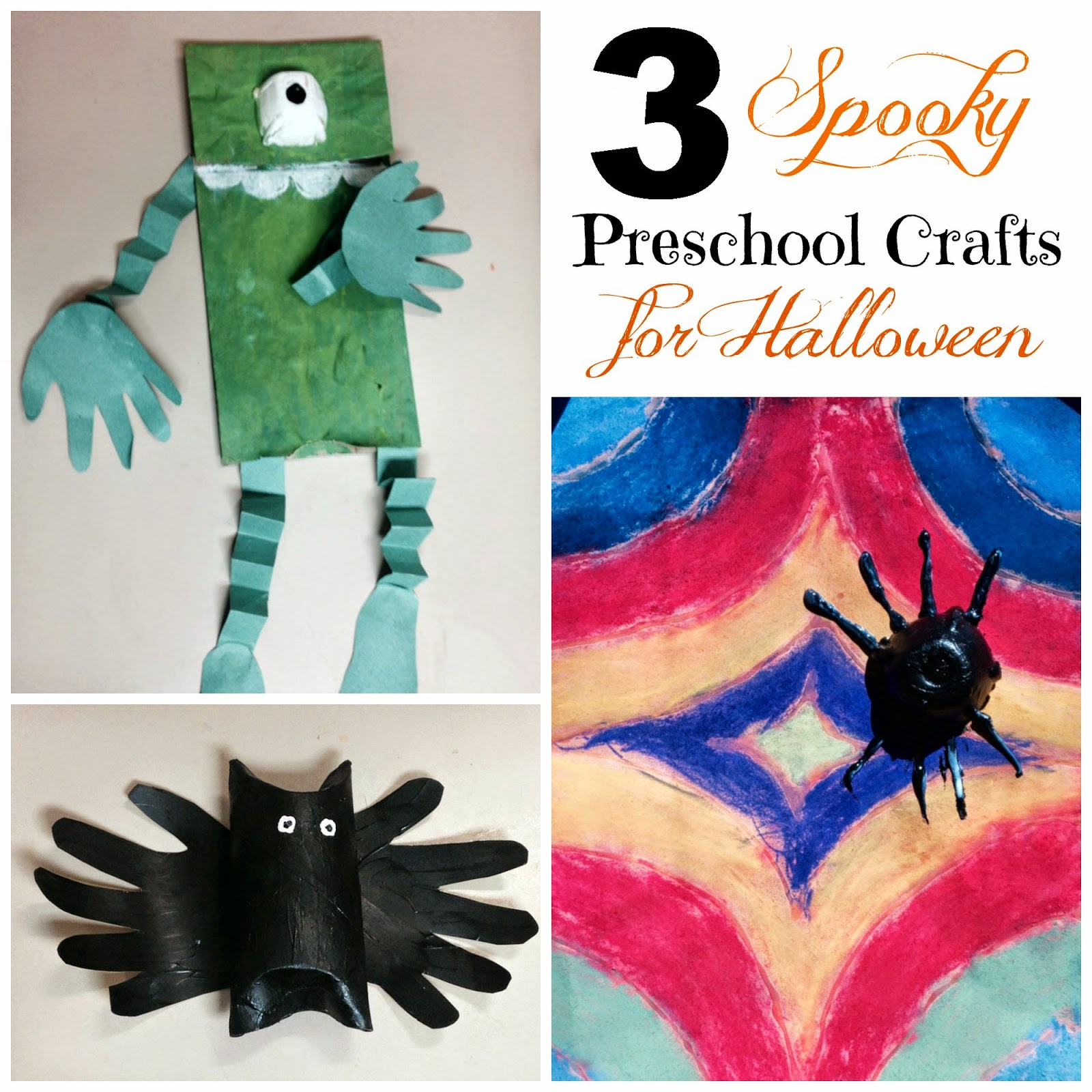 3 Spooky Preschool Crafts For Halloween Outnumbered 3 To 1