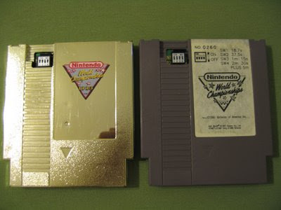 1990 nintendo world championship cartucce grigia e oro