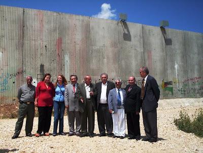 Deputados brasileiros conhecem o Muro do Apartheid israelense
