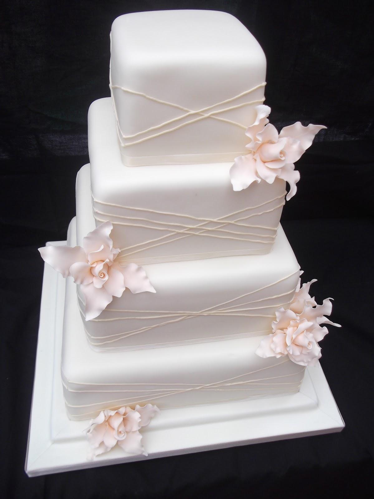 Wedding Cake Art Karen Hill : Cakes By Karen: Ivory wedding cake with champagne flowers