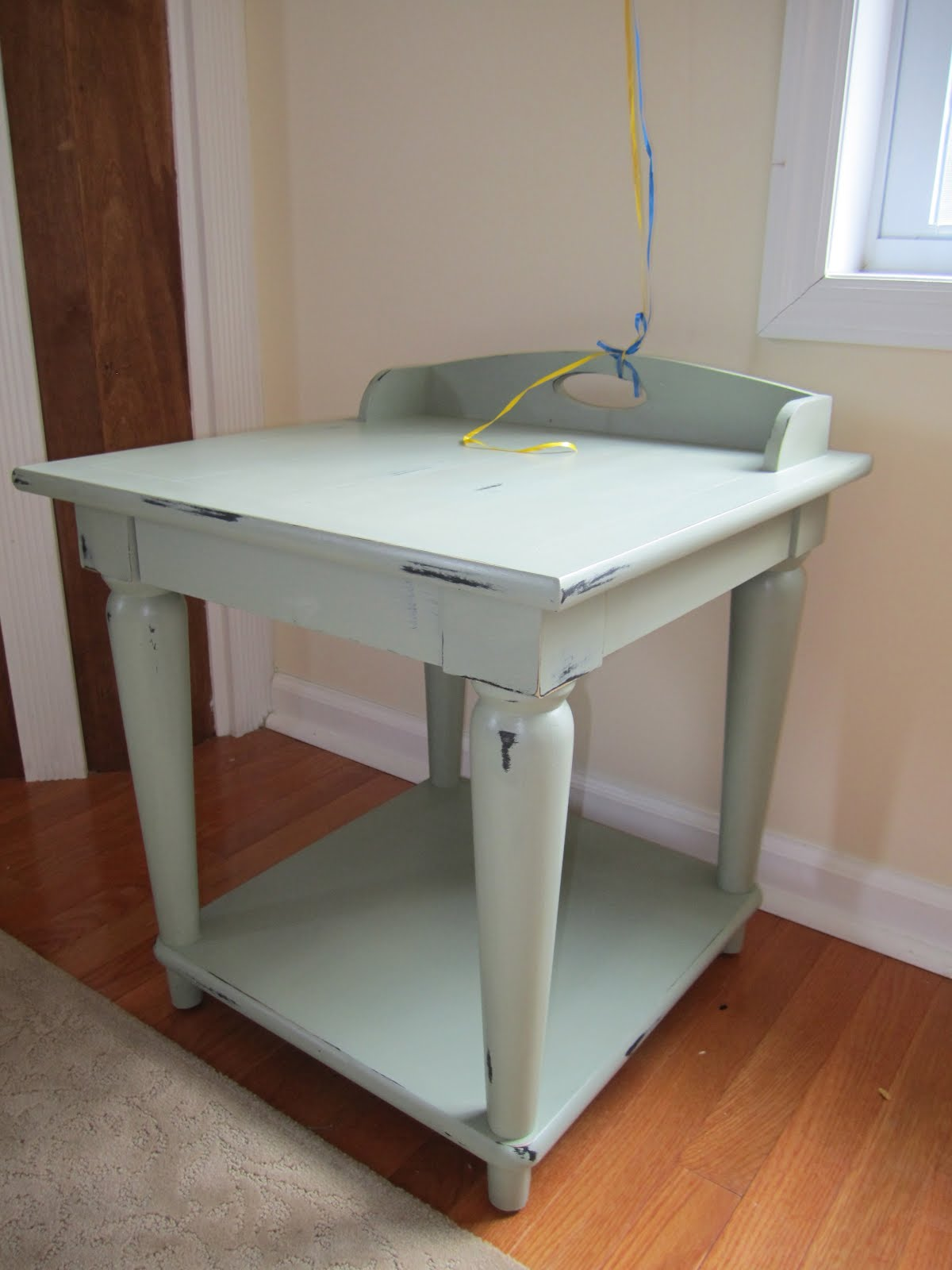 Cheap and wise chalk paint end tables an experiment for Inexpensive end tables