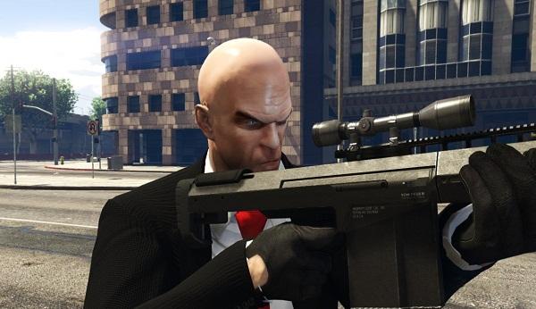 MOD Agent 47 Dari Hitman Untuk Michael, Trevor, Franklin