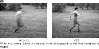 Совет 68. Когда вы снимаете бегущего человека, снимайте его на большой выдержке и методом проводки.