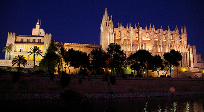 Vista nocturan Catedral de la Seu - Mallorca