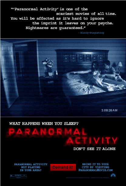 Poster Of Paranormal Activity 2007 720p Hindi BRRip Dual Audio Full Movie