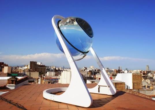 panel solar curvo