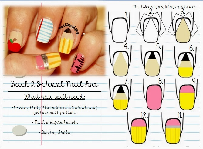 NailDeesignz: Back to School Nail Art