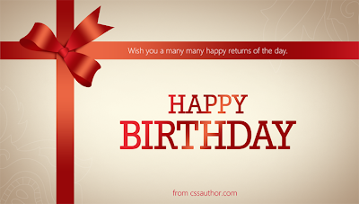 Happy Birthday con lazo rojo