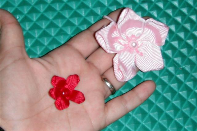 Mo os elegantes como hacer flores de liston - Para hacer monos ...