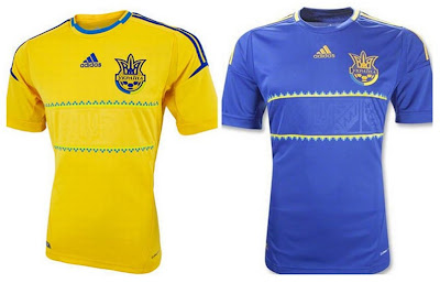 Ukraine Home+Away Euro 2012 Kits (Adidas)