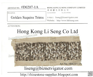 Golden Sequins Trims Manufacturer - Hong Kong Li Seng Co Ltd