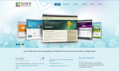 30 hermosos ejemplos Screenshots en el diseño web