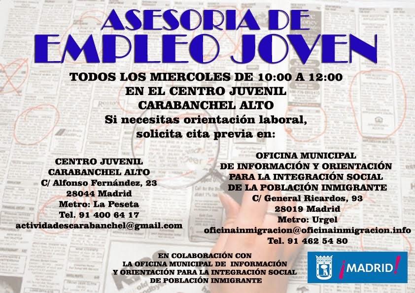Asesoría de Empleo Joven en el Centro Juvenil Carabanchel Alto