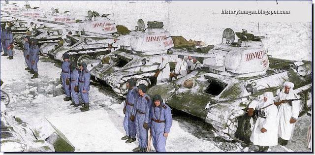 Russian  T-34/76F tanks