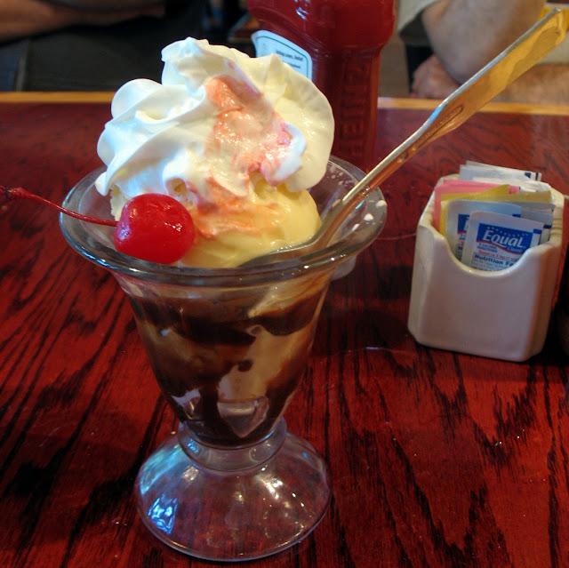 A complimentary birthday sundae
