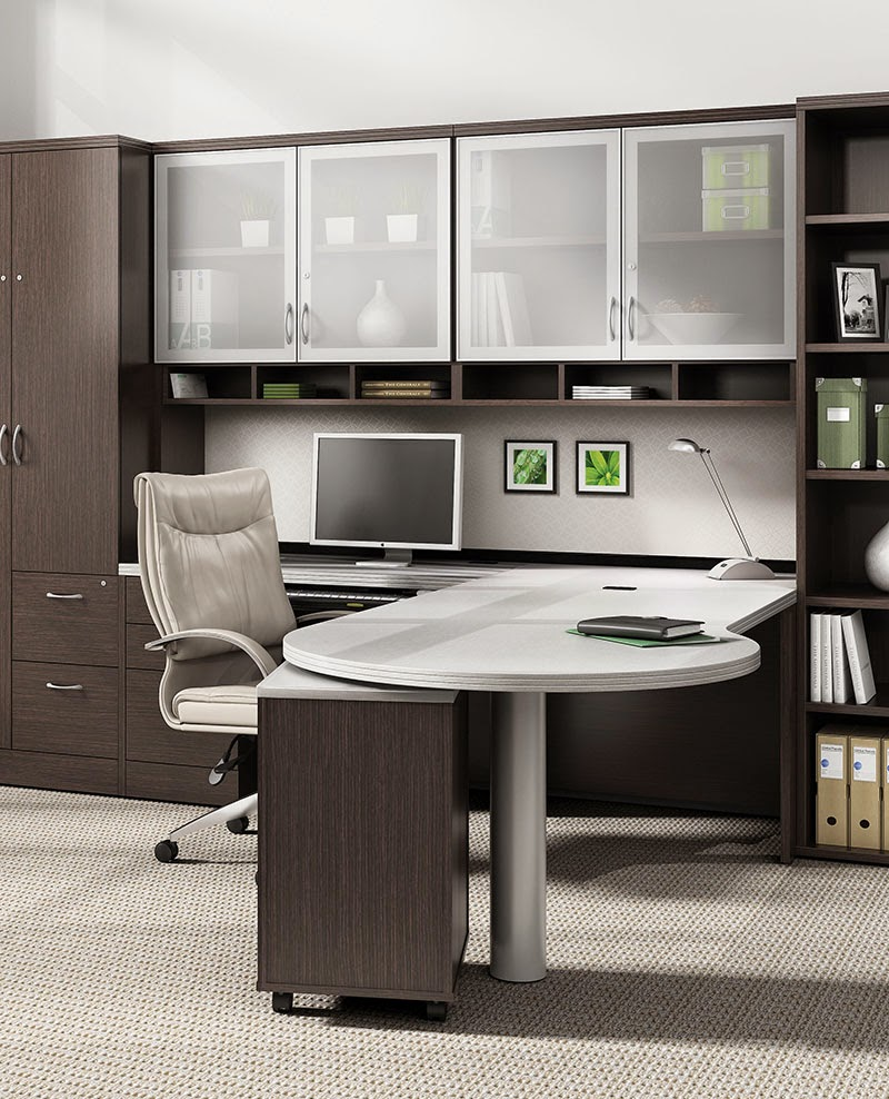 Office anything furniture blog 6 cool desk sets for the for Interesting office interiors