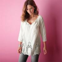 Bluza cu detalii din macrameu (Blancheporte)