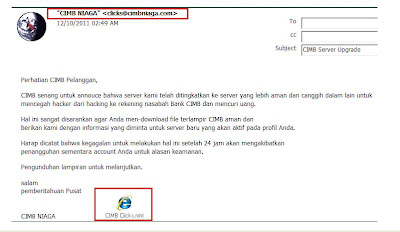 Email Phishing CIMB Niaga