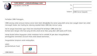 Email Phishing CIMB Niaga
