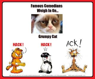 Grumpy Cat Garfield Bucky Katt Get Fuzzy Bill the Cat Opus Bloom County Berkley Breathed Outlands Comedians Comics Comedy Ack