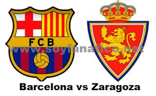 Real Zaragoza vs FC Barcelona Liga 2013