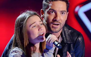 Raquel canta Mi Princesa de David Bisbal la voz kids