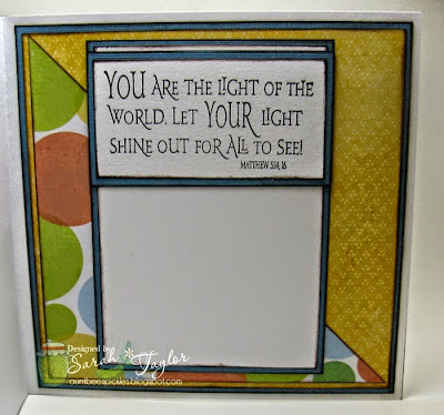 Our Daily Bread designs Light of the World, Customer Card of the Day by Sarah Taylor