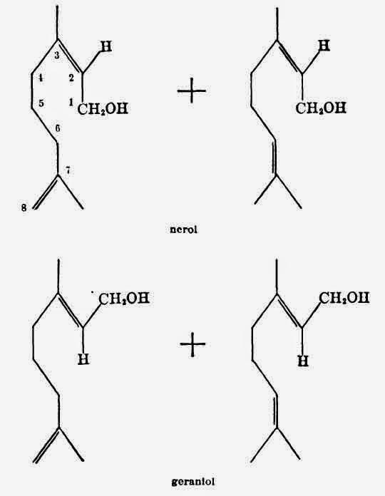 Isomerism of Geraniol