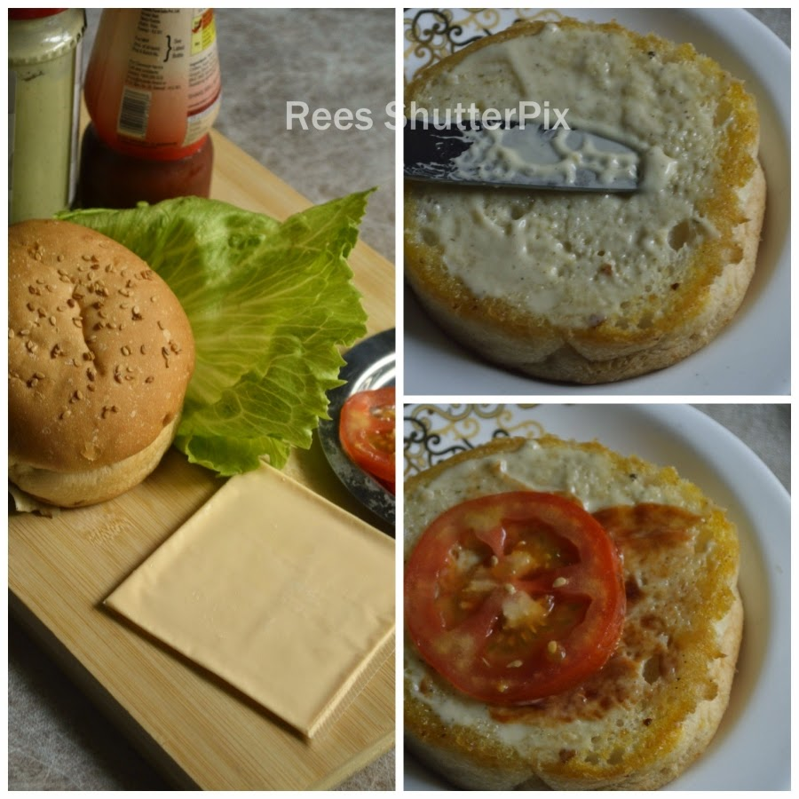 veg burger at home, easy burger recipe at home, veg burger recipe in tamil, step wise picture for veg burger recipe