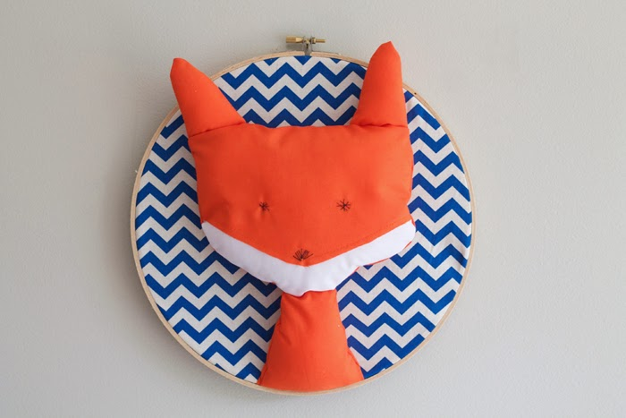 Glorious Bandits Fox Trophy Head (Wall Art) available from GloriousBandits.etsy.com