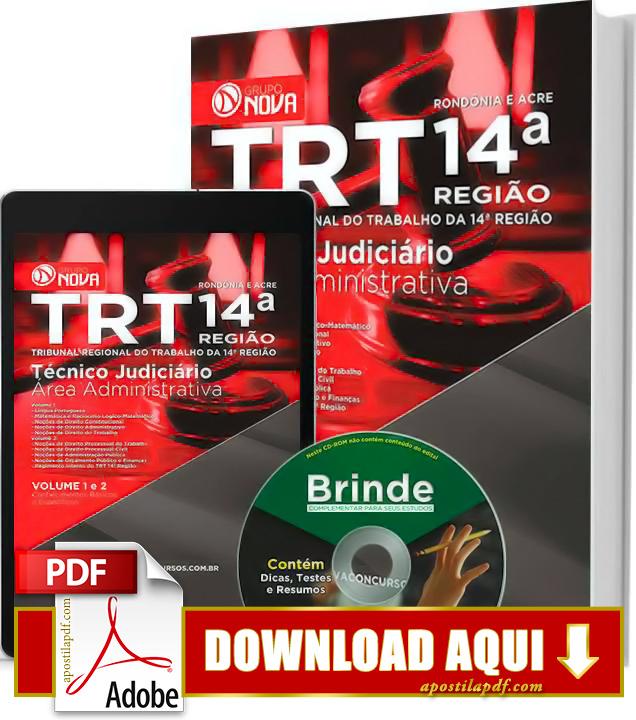 Apostila TRT 14ª Região 2015 Técnico Judiciário Impressa PDF Download Grátis
