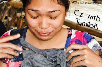 """Cz Santos after eating Palawan's Tamilok or """"wood worm"""""""