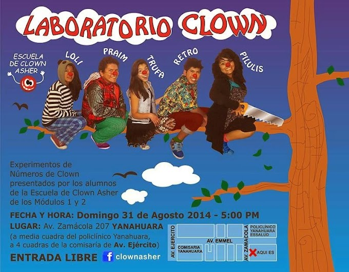 Laboratorio Clown Arequipa - 31 de agosto