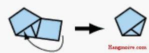Bước 5: Gài mẩu giấy cuối cùng vào cái nút thắt để đảm bảo chắc chắn và không bị bung ra. Giờ bạn đã hình thành một ngũ giác hoàn chỉnh rồi đó.