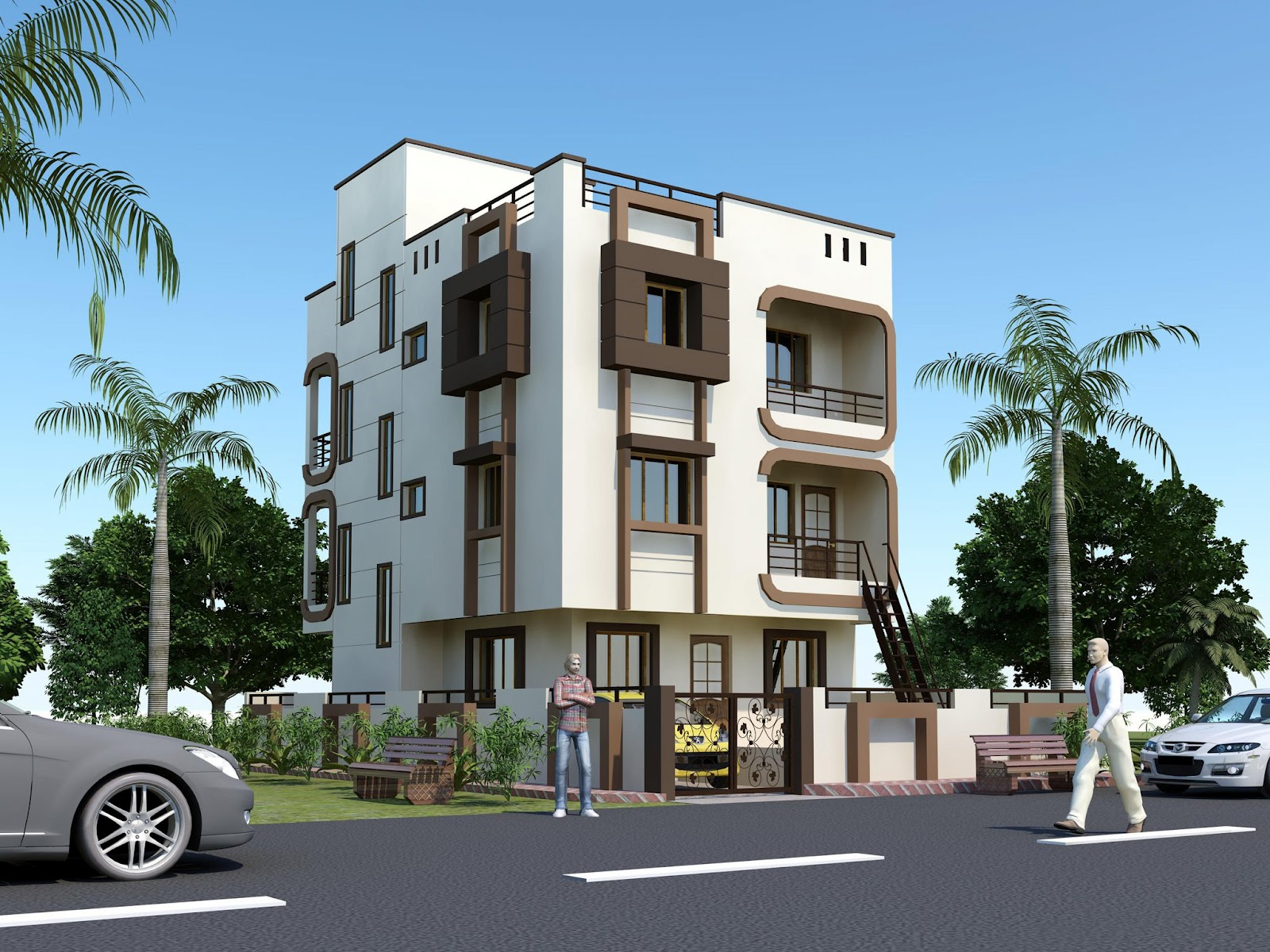 New home designs latest modern homes exterior designs for Home design exterior ideas in india