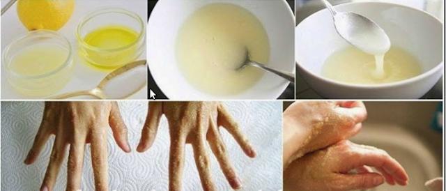 وصفة خاصة بتقشير اليدين وتنعيمها طبيعيا بدون كيماويات