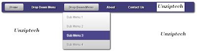 CSS3-menu-bar