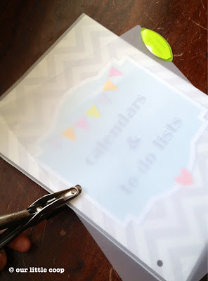 household binder family organizer printables