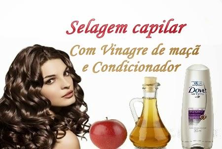 selagem capilar com vinagre de maçã e condicionador