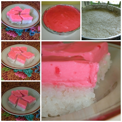 Kuih yang pink the pinkish ...