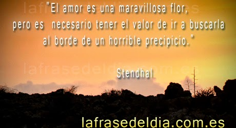 Frases de amor de Stendhal