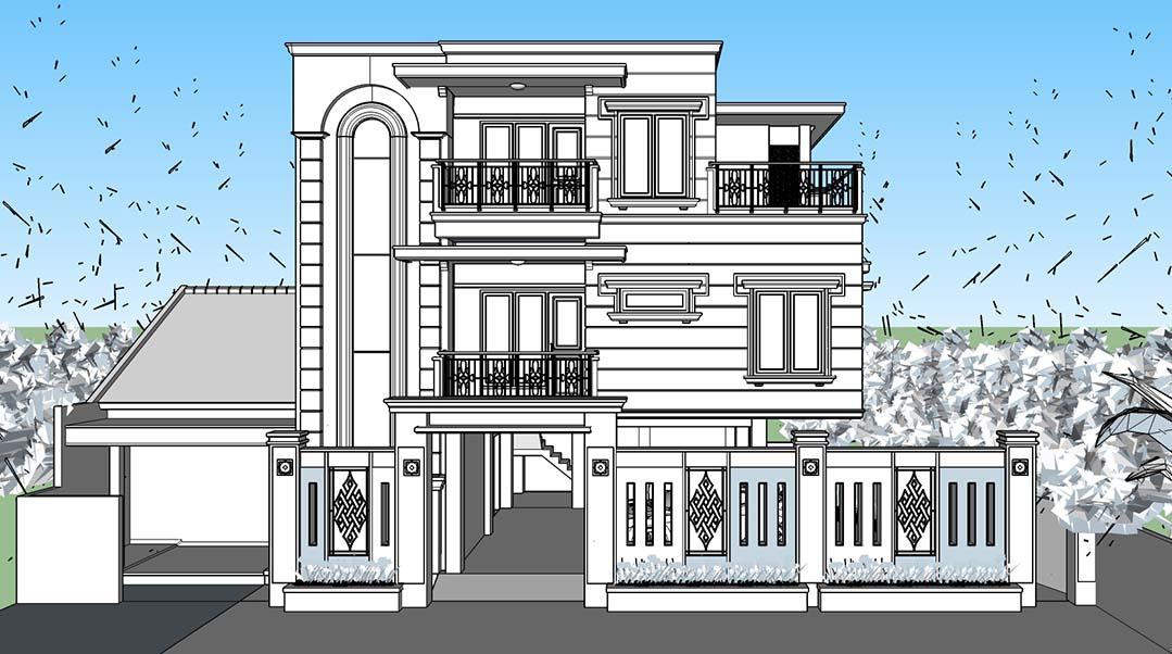 Sketchup texture sketchup models houses villas for Villas 3d model