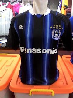 gambar detail jersey liga jepang musim depan enkosa sport Jersey Gamba Osaka home terbaru musim 2015/2016 kualitas grade ori