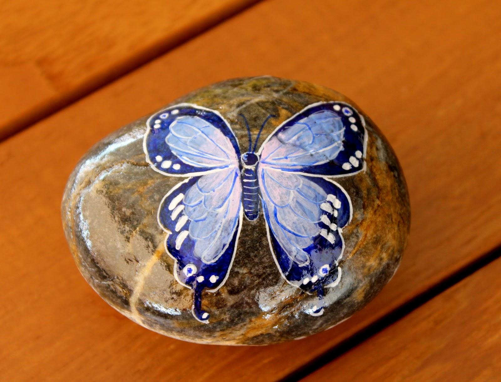 Nueve pinceladas pintando piedras for Como pintar imitacion piedra