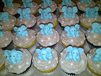 Elephant Stork Tea Cupcakes