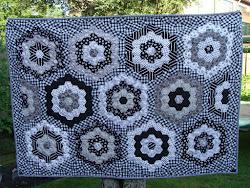 zwart-witte hexagonnen