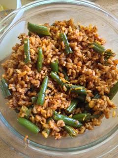 Hurlikayi Bhath / Green Beans Masala Rice