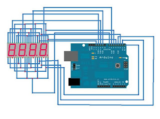 Arduino :: Components :: 4-digit 7-segment display