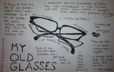 Old Glasses Drawing Click The Drawing to Enlarge