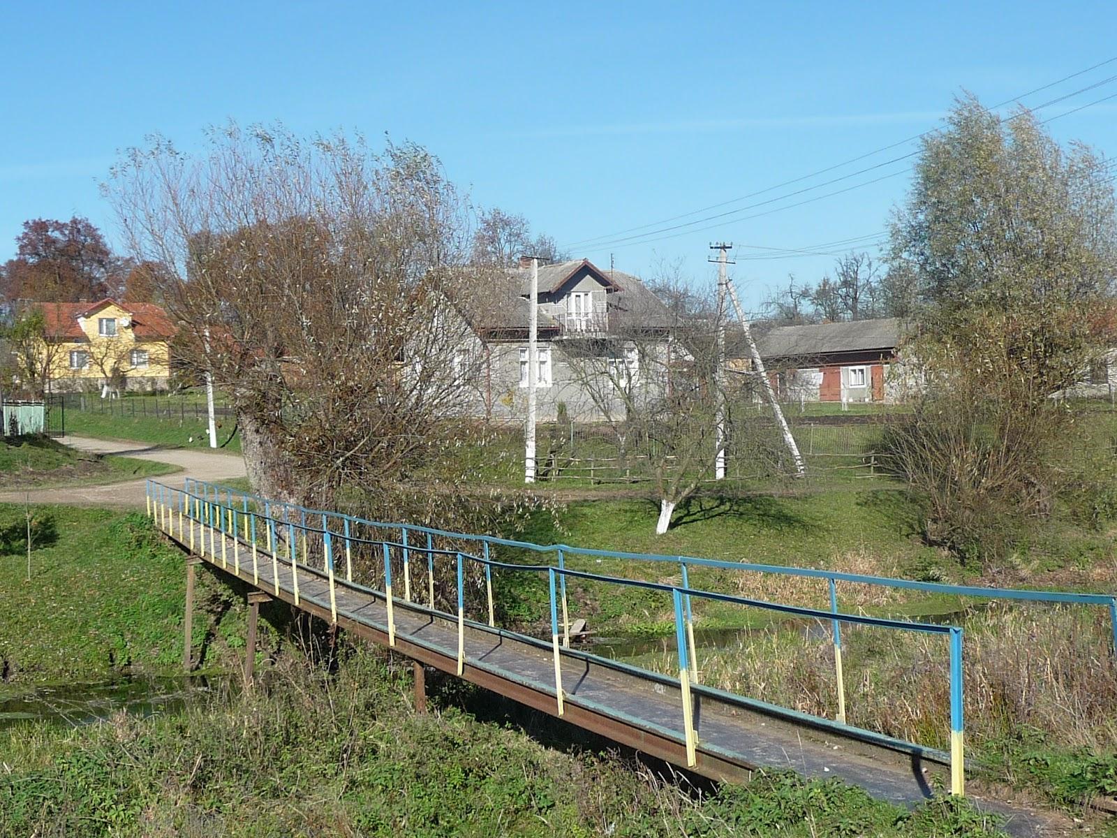 Добрівляни Дрогобицького району. Міст через річку Трудницю